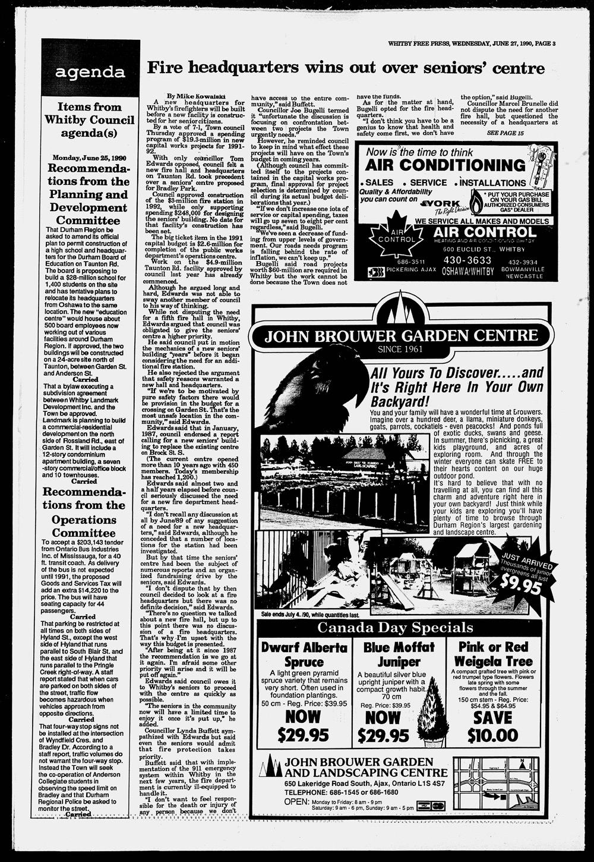 Whitby Free Press, 27 Jun 1990