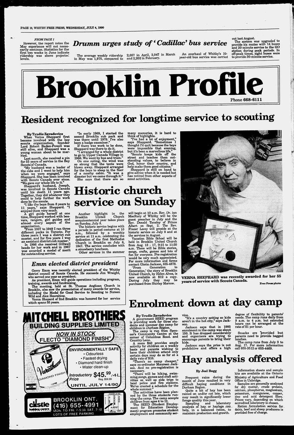 Whitby Free Press, 4 Jul 1990