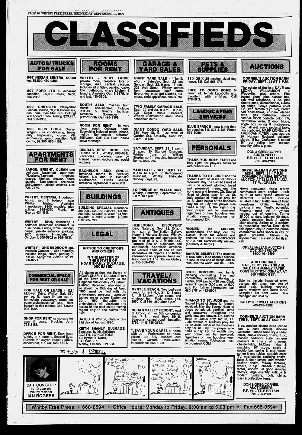 Whitby Free Press, 19 Sep 1990