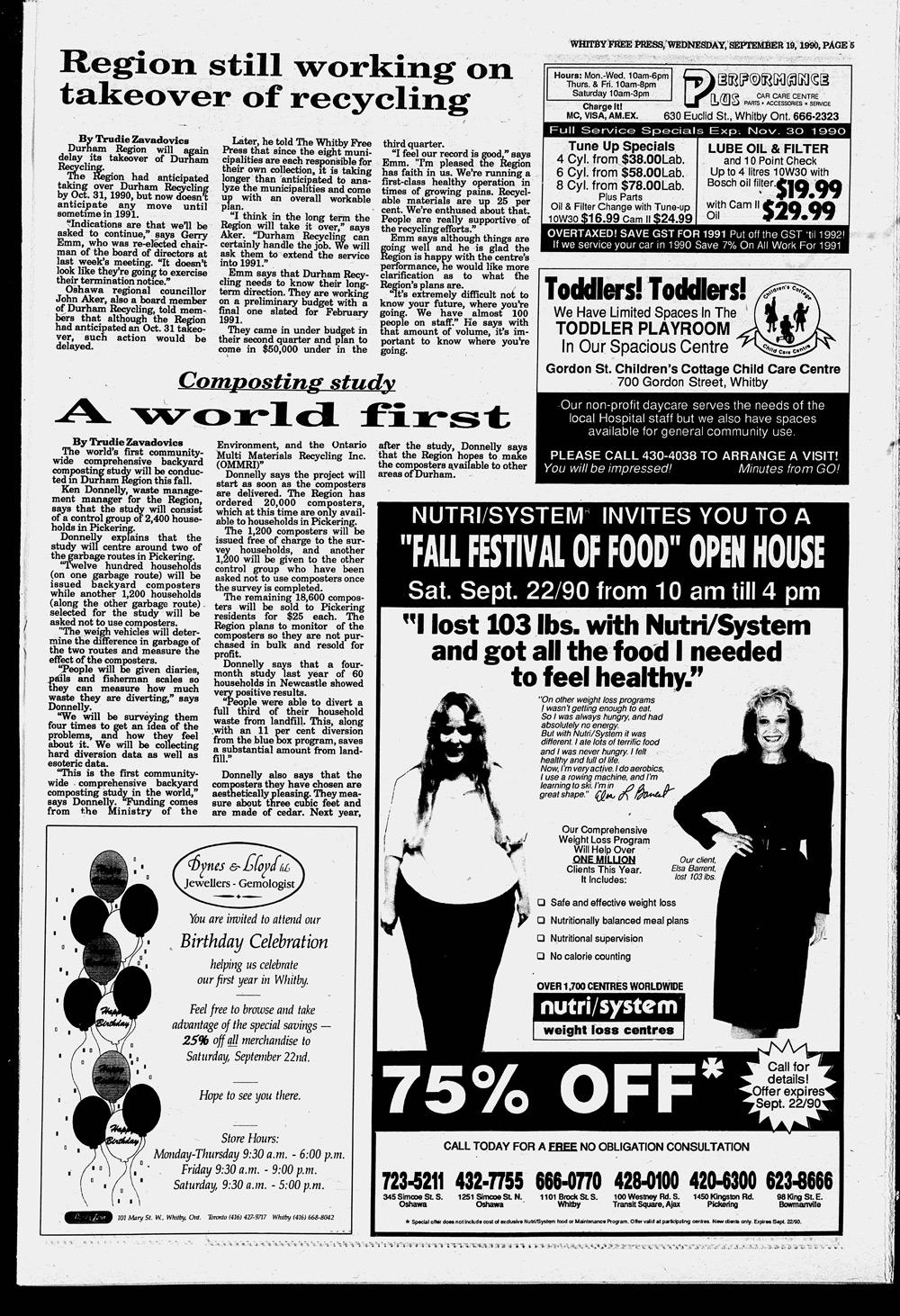 Whitby Free Press, 19 Sep 1990