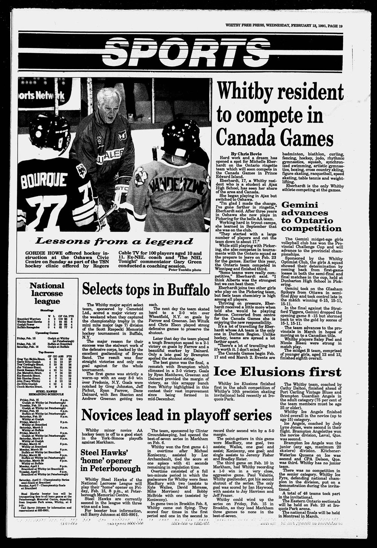 Whitby Free Press, 13 Feb 1991