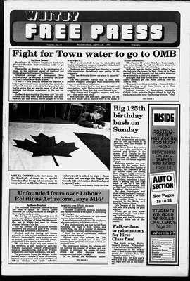 Whitby Free Press, 22 Apr 1992