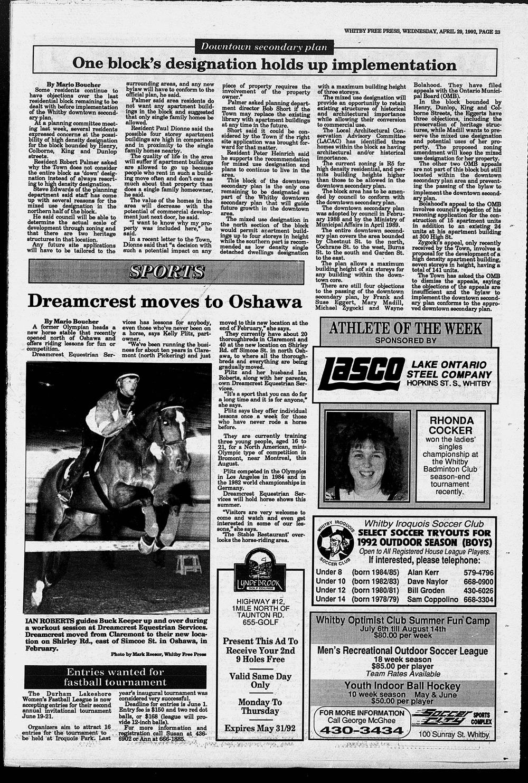 Whitby Free Press, 29 Apr 1992