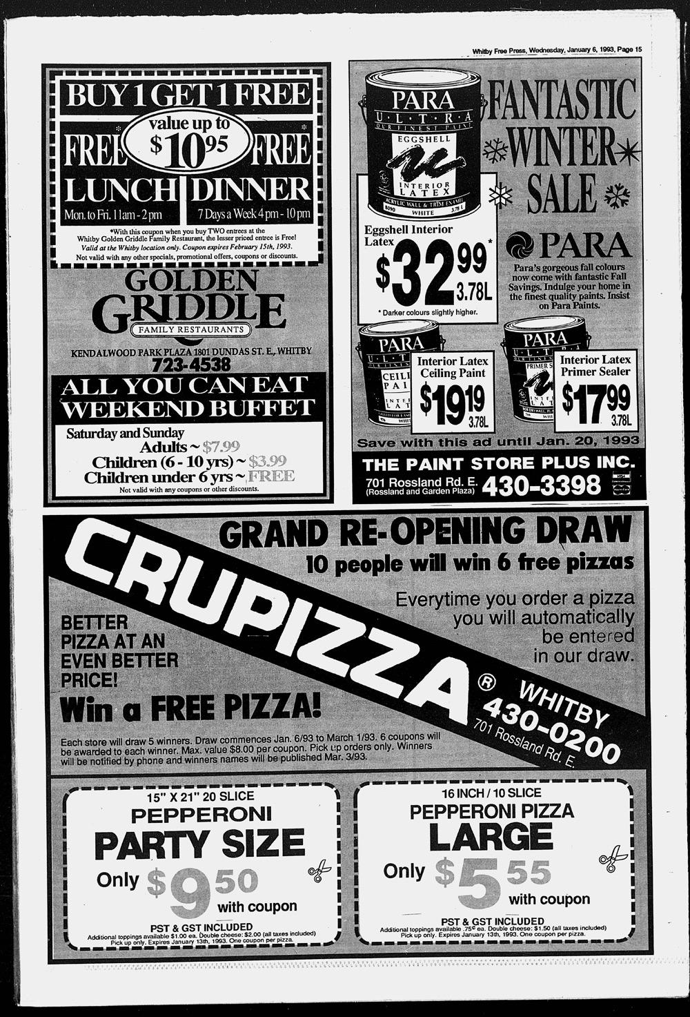 Whitby Free Press, 6 Jan 1993