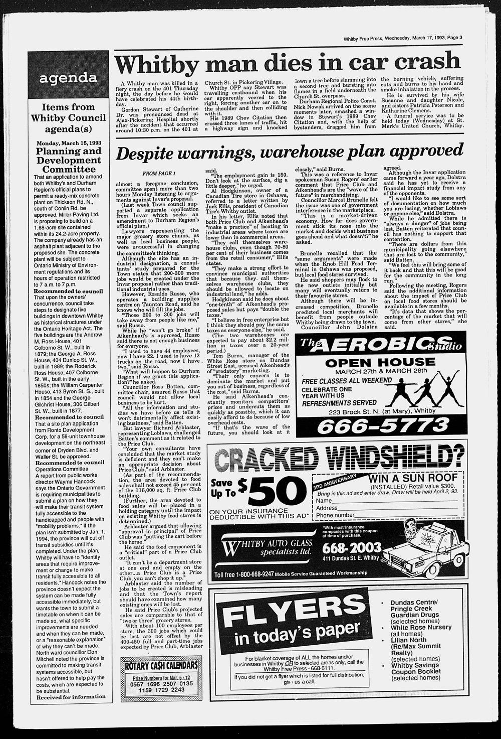 Whitby Free Press, 17 Mar 1993