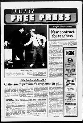 Whitby Free Press, 21 Apr 1993