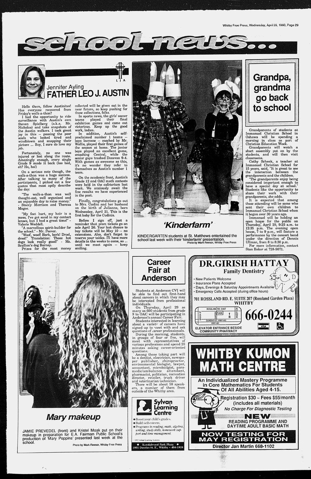Whitby Free Press, 28 Apr 1993