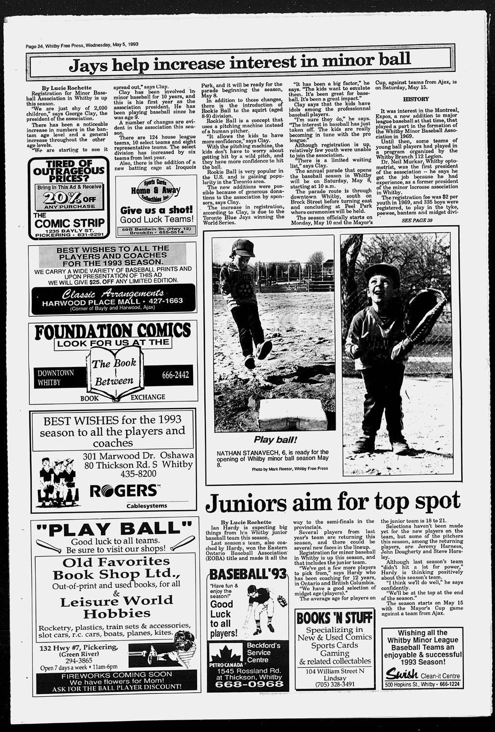 Whitby Free Press, 5 May 1993