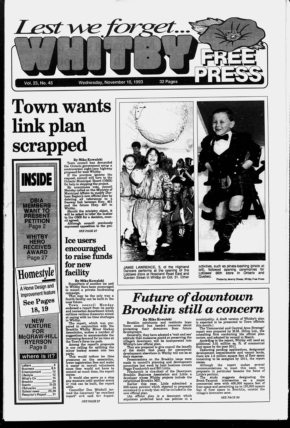 Whitby Free Press, 10 Nov 1993