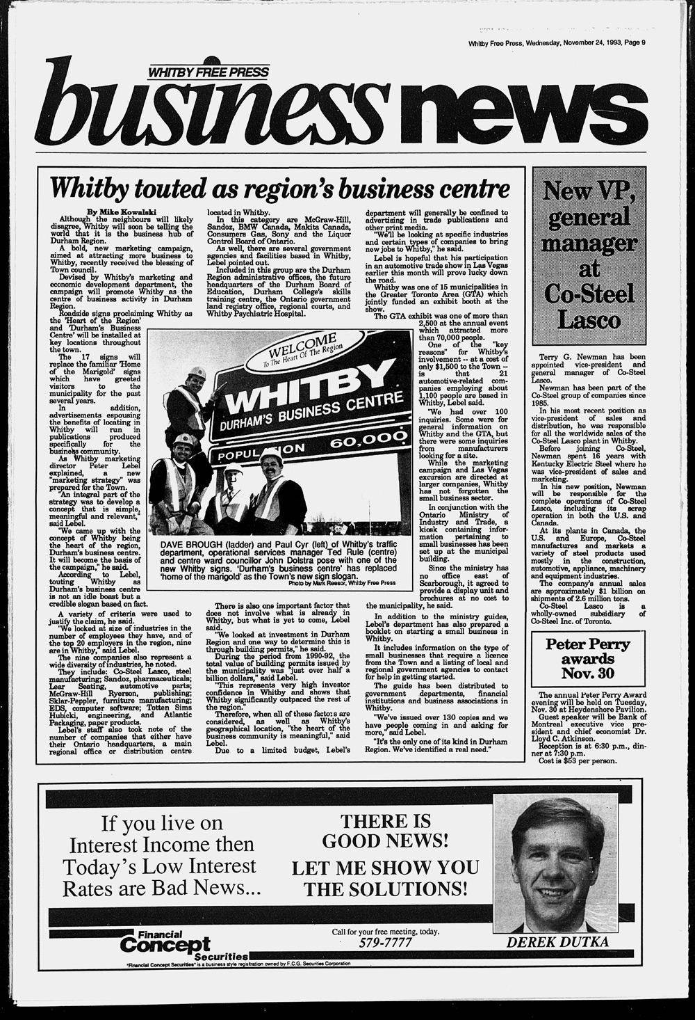 Whitby Free Press, 24 Nov 1993