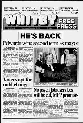 Whitby Free Press, 16 Nov 1994