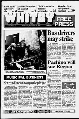 Whitby Free Press, 23 Nov 1994
