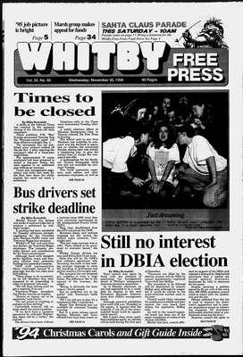 Whitby Free Press, 30 Nov 1994