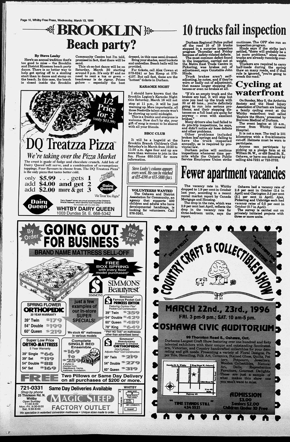 Whitby Free Press, 13 Mar 1996