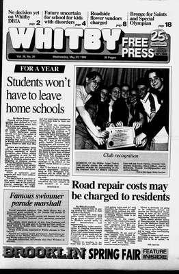Whitby Free Press, 22 May 1996