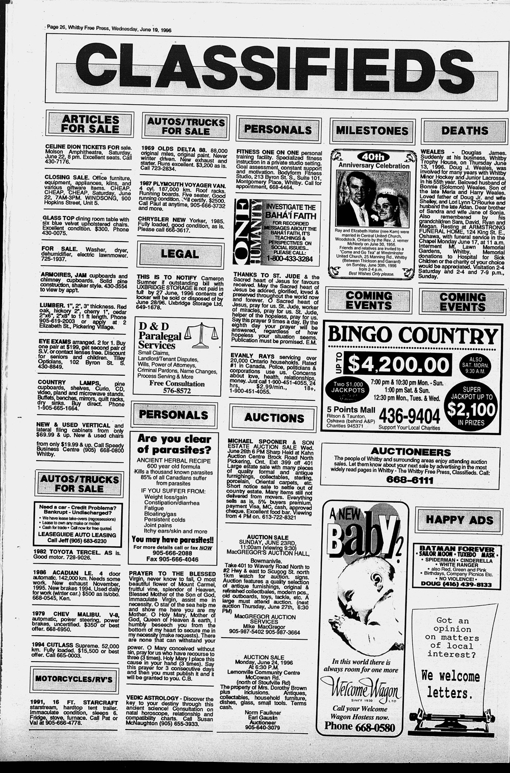 Whitby Free Press, 19 Jun 1996