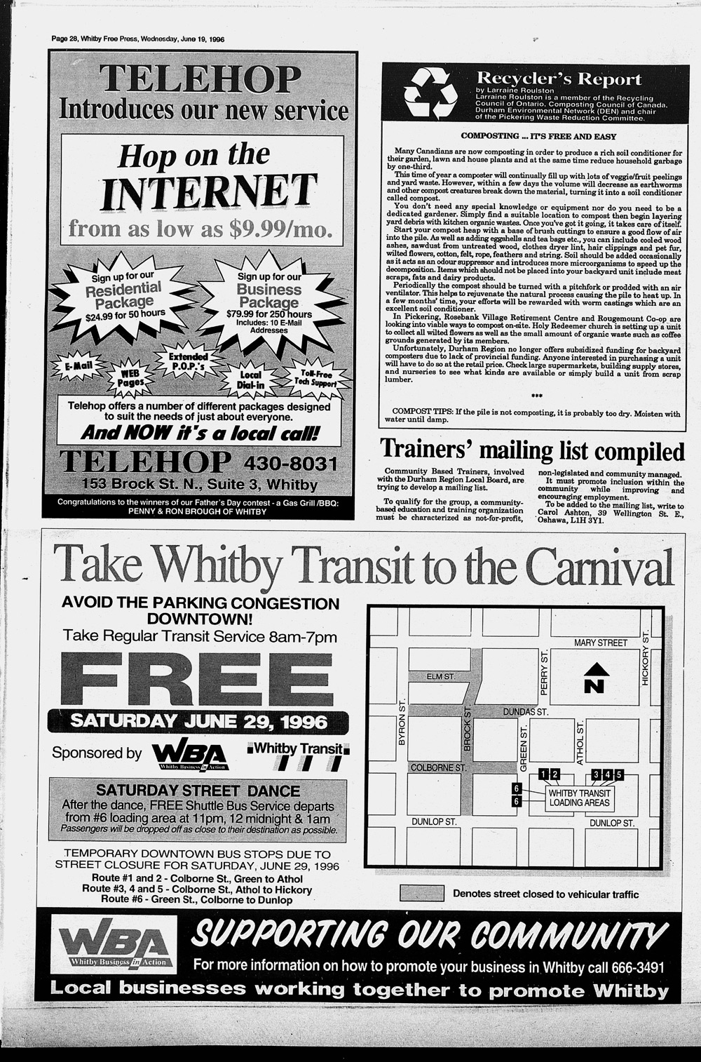 Whitby Free Press, 19 Jun 1996