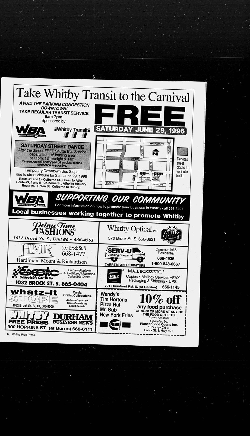 Whitby Free Press, 26 Jun 1996