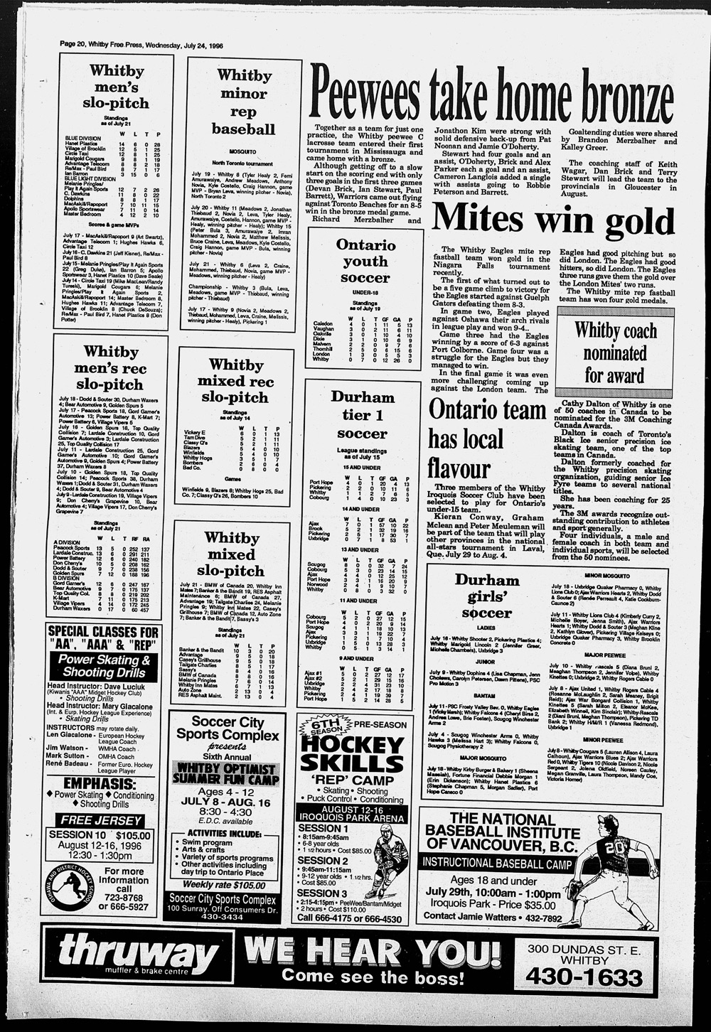 Whitby Free Press, 24 Jul 1996