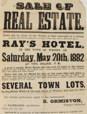Sale of Real Estate