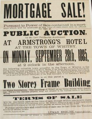 Mortgage Sale