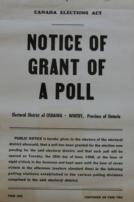 Notice of Grant of Poll