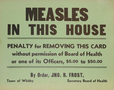 Measles in This House