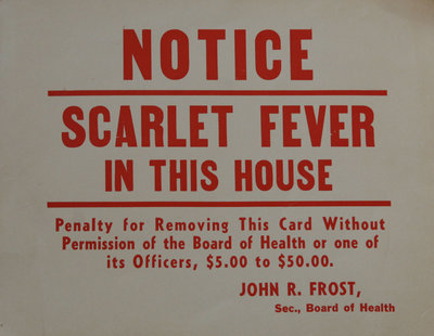 Scarlet Fever in This House
