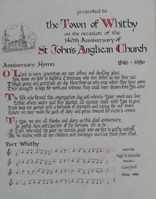 Anniversary Hymn