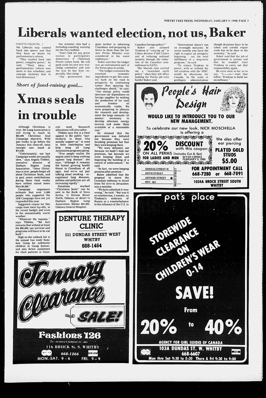 Whitby Free Press, 9 Jan 1980