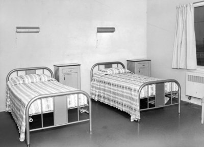 Bedroom at Fairview Lodge, 1951