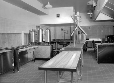 Kitchen at Fairview Lodge, 1951