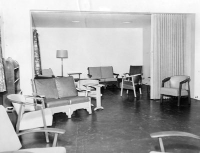 Men's Day Room at Fairview Lodge, 1951