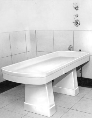 Bathroom Slab at Fairview Lodge, 1951
