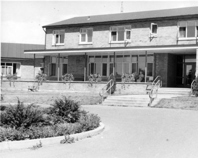 Main Entrance at Fairview Lodge, c. 1952