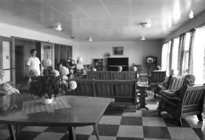 Sitting Room at Fairview Lodge A. Wing, c. 1960