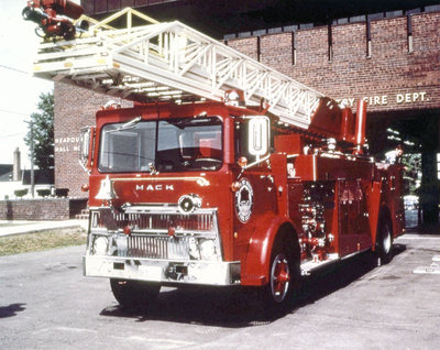 Aerial Ladder Fire Truck, 1973
