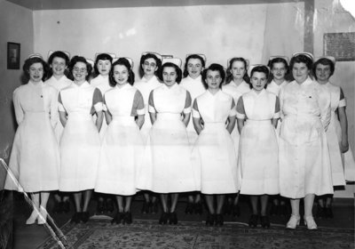 Nurses at Ontario Hospital, c. 1949