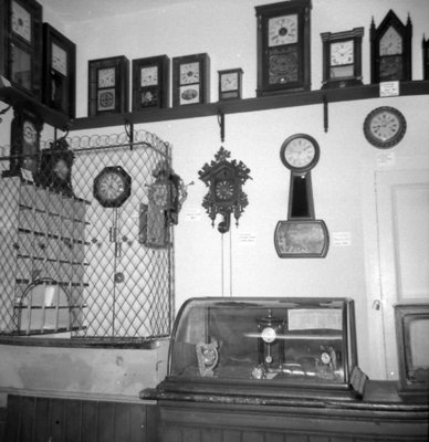 Clock Display, Whitby Historical Society Museum, June 1968