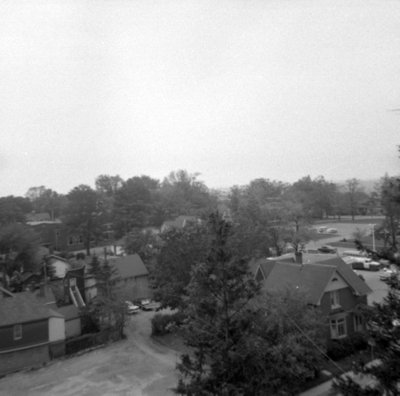 Looking Southwest from All Saints' Anglican Church, May 1964