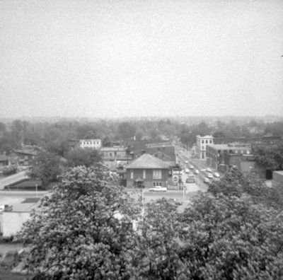 Looking East from All Saints' Anglican Church, May 1964