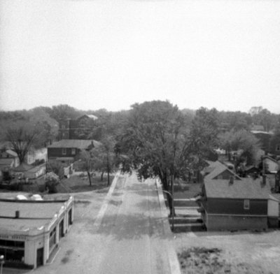Looking South from All Saints' Anglican Church, May 1964