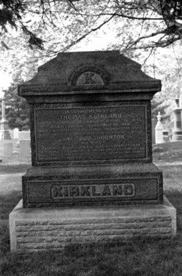 Thomas Kirkland Family Gravestone