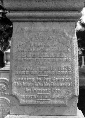 Reverend Robert Hill Thornton Gravestone