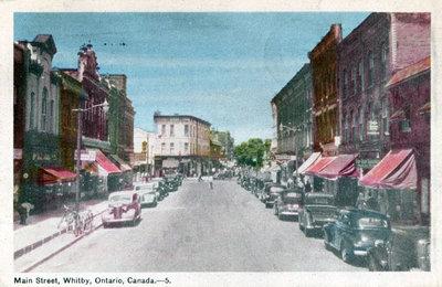 Brock Street looking north from Colborne Street, c.1947