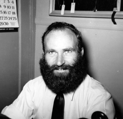 Whitby Centennial Beard-Growing Contestant, 1955