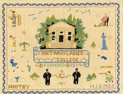 Sampler of Ontario Ladies' College, 1935