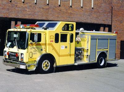 1989 Mack MR688P Pumper Truck, July 20, 2002