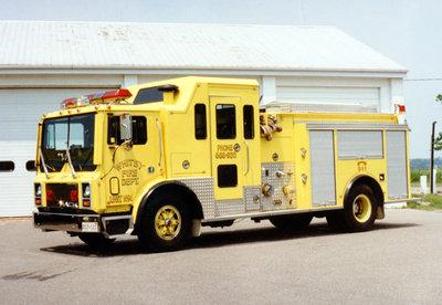 1989 Mack MR688P Pumper Truck, July 13, 1996