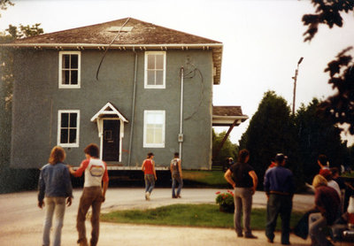 Relocation of the Jabez Lynde House, August 1986